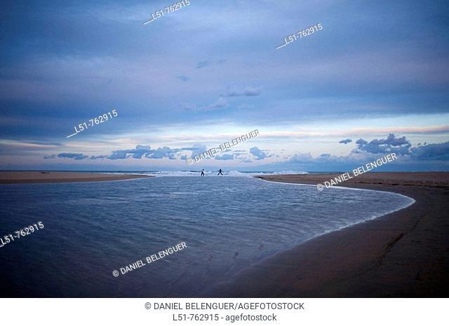 General view of Xeraco's beach, Xeraco, Valencia, Comunidad Valenciana, Spain, Europe