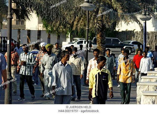 United Arab Emirates, Dubai , Dubai Deira, Creek, Asia, Promenade, indian construction worker