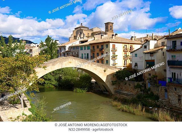 La Carcel Bridge, Ega River, Puente de la carcel, Estella, Navarra, Way Of St. James, Navarre, Way to Santiago, Spain