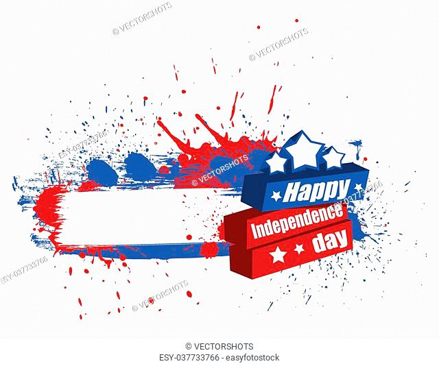 Drawing Art of happy independence day banner background