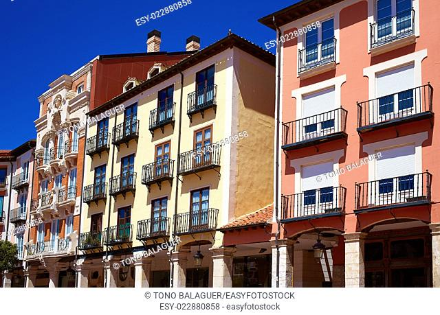 Burgos Plaza Mayor square in Castilla Leon of Spain