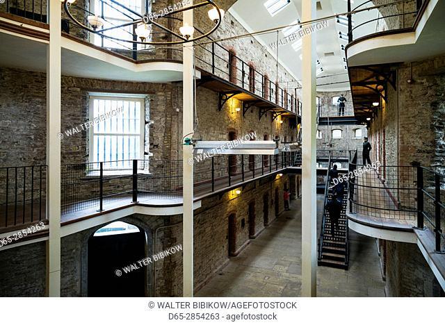Ireland, County Cork, Cork City, Cork City Gaol, jail museum, West Wing interior