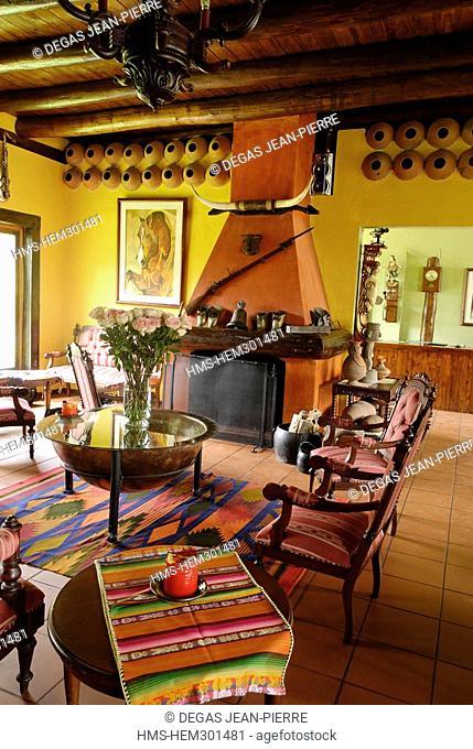 Ecuador, Tungurahua Province, Andes, Hacienda Leito, facing Tungurahua volcano, this former jesuit residence has become an hotel since 2001