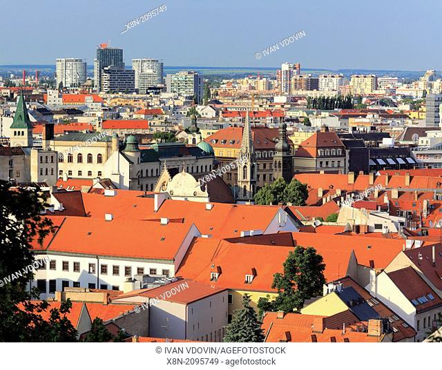 Cityscape from Bratislava castle, Bratislava, Slovakia