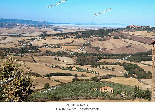 The hills around Pienza and Monticchiello Tuscany, Italy
