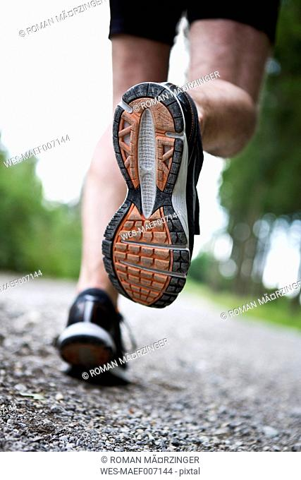 Germany, Bavaria, Mature Man jogging
