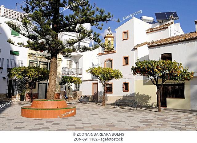 square, Old town, Estepona, Province of Malaga, Andalusia, Spain, Europe, Platz, Altstadt, Estepona, Provinz Malaga, Andalusien, Spanien, Europa