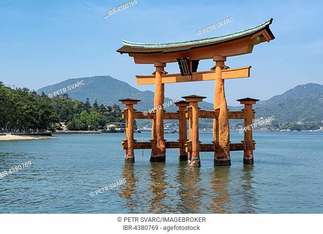 Torii Gate of Itsukushima Shrine, Miyajima island, Japan