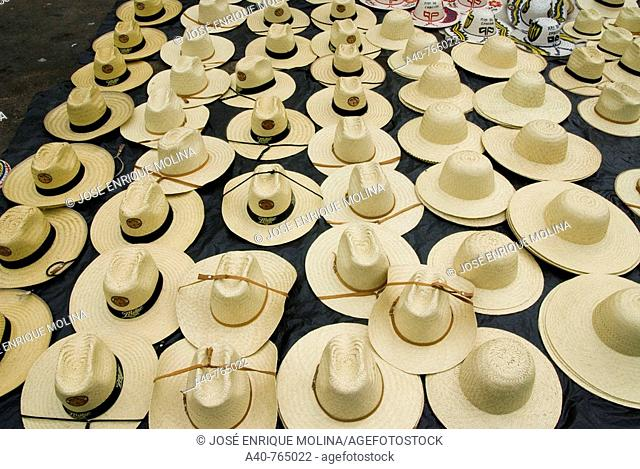 Paraguay., Department of Central.Traditional crafts.Hats
