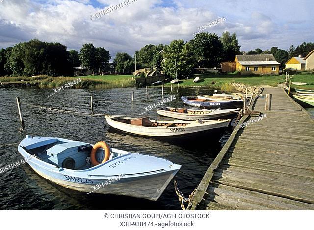 petit port d'Orissaare sur l'ile de Saaremaa,Estonie,pays balte,europe du nord