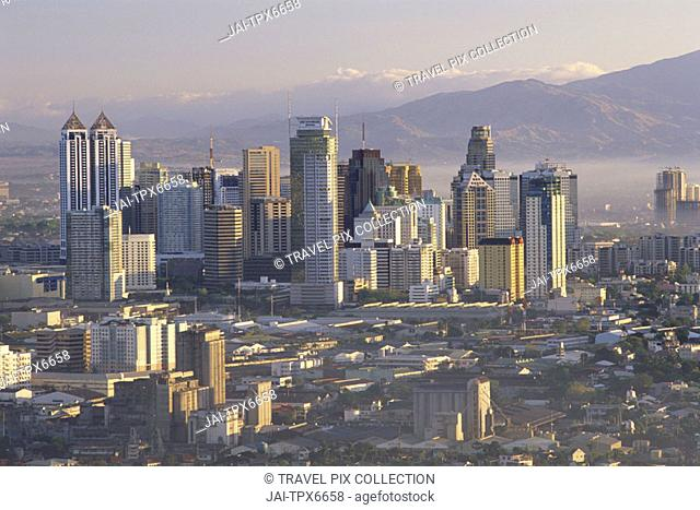 Philippines, Manila, Pasig City Business Area Skyline