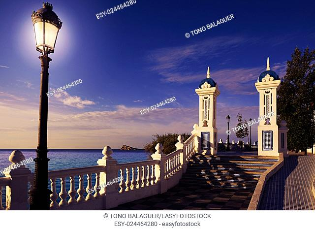 Benidorm Mirador del Castillo Mediterranean lookout point in Alicante Spain