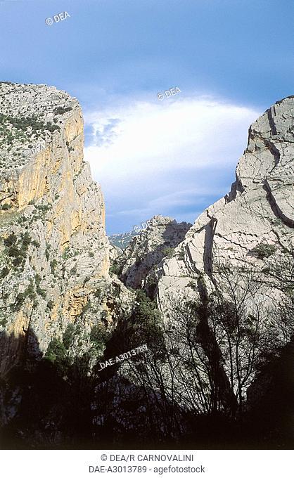Italy - Sardinia Region - Gulf of Orosei and Gennargentu National Park - Su Gorropu Gorge