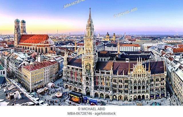 Panorama view of Munich city center