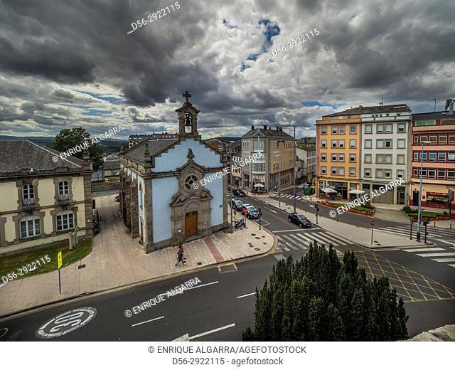 Lugo from the roman walls, Galicia, Spain