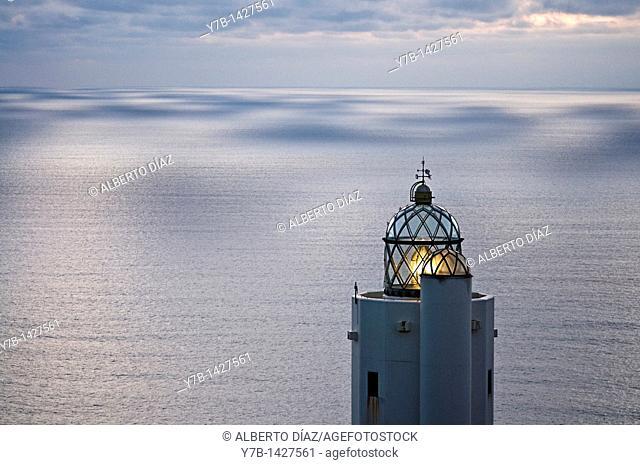 Lighthouse on the Cantabrian Sea coast