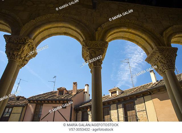 View from thr portico of San Lorenzo church. Segovia, Spain
