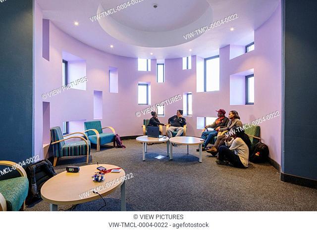 Barcode corner interior. Sol Plaatjie University, C002, Kimberley, South Africa. Architect: Savage + Dodd Architects, 2016