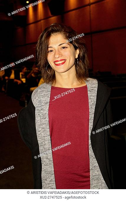 """Italian actress Daphne Scoccia attends at the premiere of her film """"""""Fiore"""""""" in Athens"""