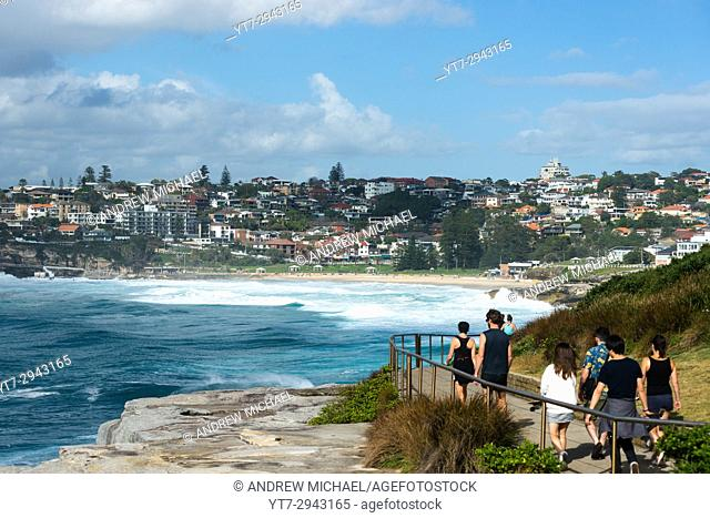 Bronte to Bondi Coastal walk, Eastern suburbs, Sydney, New South Wales, Australia