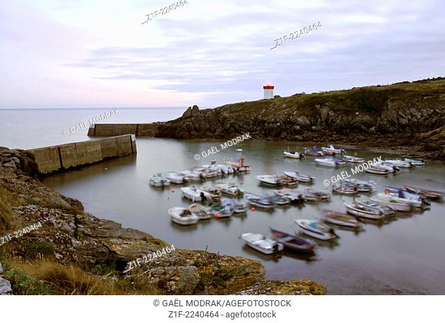 Twilight in Pors Poulhan in Brittany, France