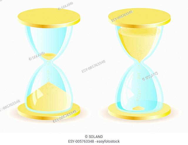 Two vector hourglass icons