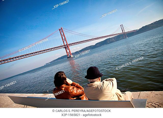 25th April Bridge in Tagus river, Lisbon, Portugal