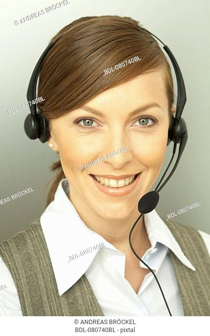 headshot of female call center agent