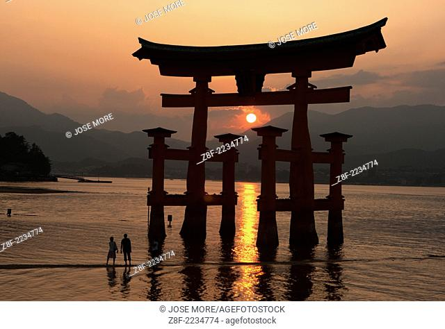 Itsukushima is an island in the western part of the Inland Sea of Japan, northwest of Hiroshima Bay. It is popularly known as Miyajima, the Shrine Island