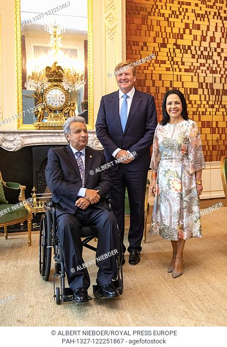 King Willem-Alexander of The Netherlands at Palace Huis ten Bosch in The Hague, on July 12, 2019, to receive the president of Ecuador