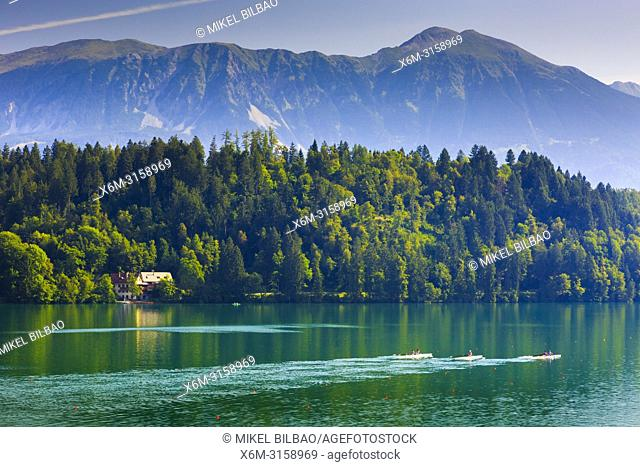 Lake Bled. Julian Alps. Upper Carniola region. Slovenia, Europe