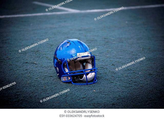 helmet rugby, American football, sports background