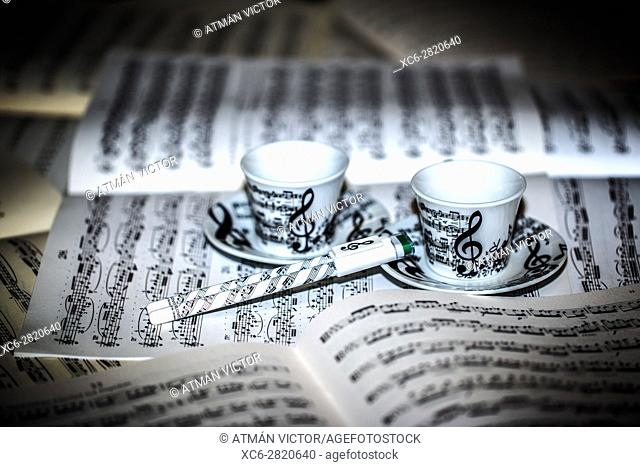 sheets of music