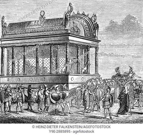 The funeral procession of Alexander the Great
