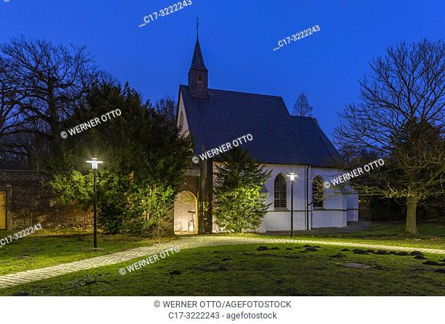 Herten, D-Herten, Ruhr area, Westphalia, North Rhine-Westphalia, NRW, moated castle, castle gardens, English landscape garden