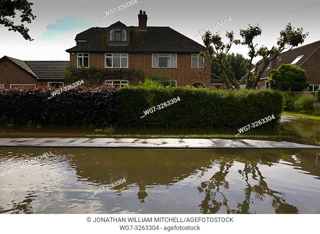 UK Girton -- 14 Jul 2011 -- Semi-detached houses in Girton, Cambridgeshire, England, some of which suffered flooding today (Sun)