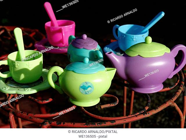 Garden toy tea setting
