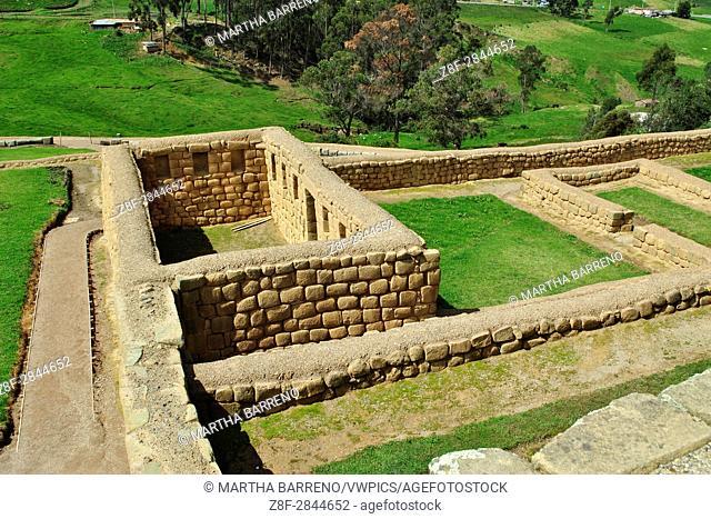 Rooms in Inca Ruins. Ingapirca. Ecuador