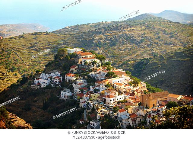 view of Ioulis Chora administrative centre town of Kea, Greek Cyclades Islands