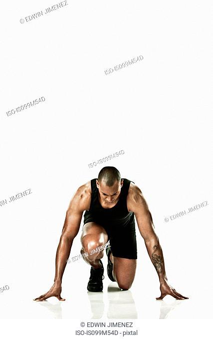 Athlete starting race