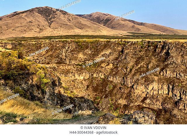 Mountain valley landscape, Saghmosavank, Kotayk province, Armenia