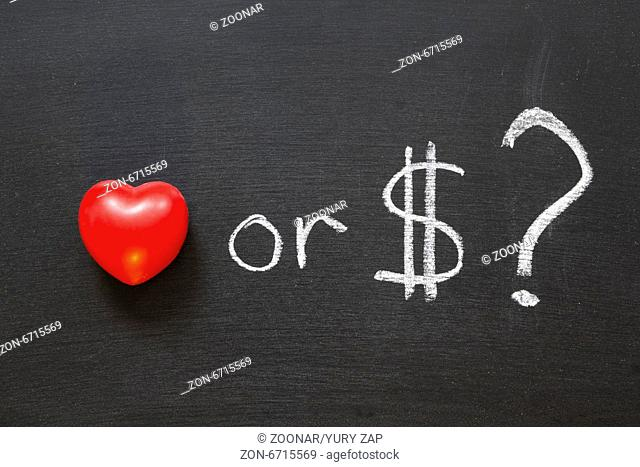 love or dollars?