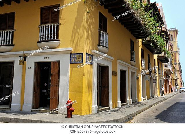 downtown colonial walled city, Cartagena, Colombia, South America