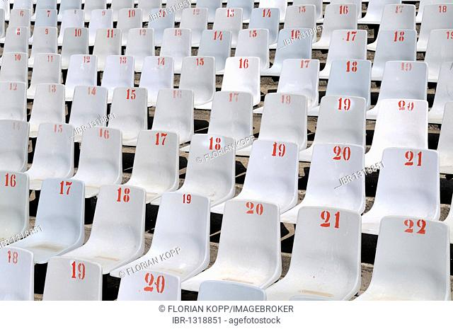2010 FIFA World Cup, empty spectator seats, Loftus Versfeld Stadium, Pretoria, South Africa, Africa