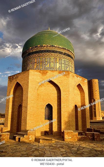 Mausoleum of Rabigha Sultan Begum great granddaughter of Emir Timur at dawn in Turkestan Kazakhstan