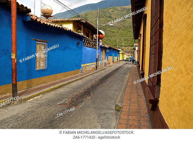 Village street in Jajó in the Venezuelan Andes