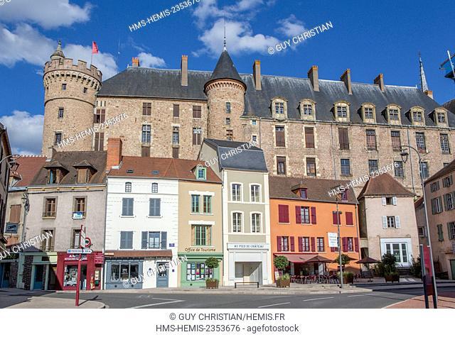 France, Allier, Lapalisse, castle of La Palice
