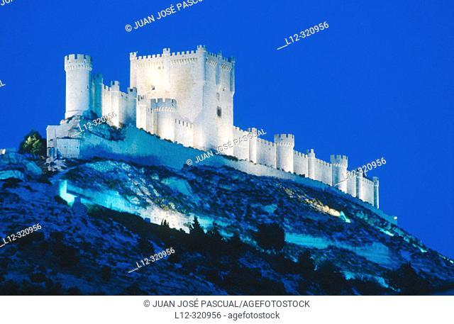 Peñafiel castle. Valladolid province, Spain