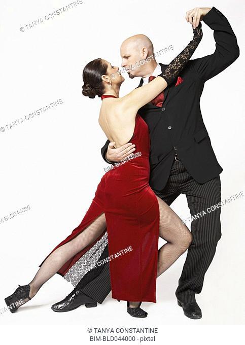 Couple tango dancing