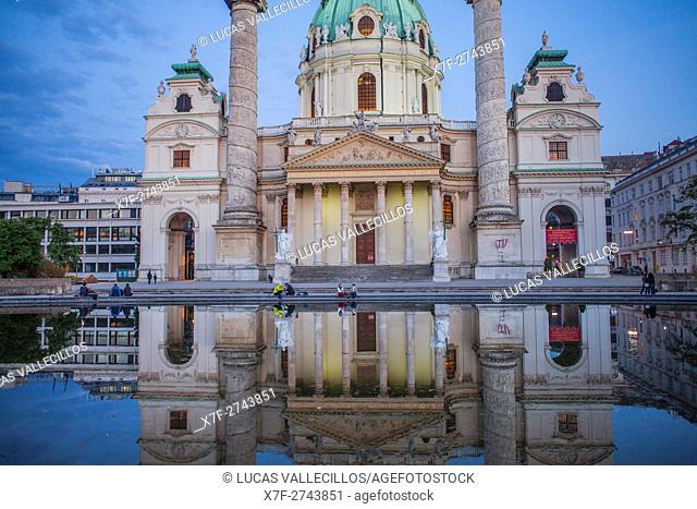 St. Charles Church or Karlskirche,Vienna, Austria, Europe